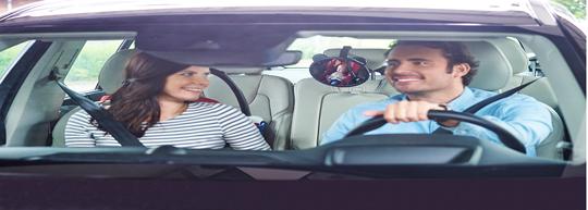 後ろ向きチャイルドシートには、ぜひカーミラーをご使用ください♪
